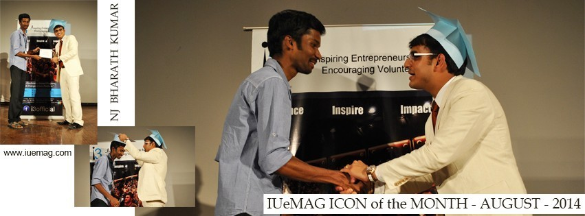 NJ Bharath Kumar, IUeMag ICON of the MONTH August 2014