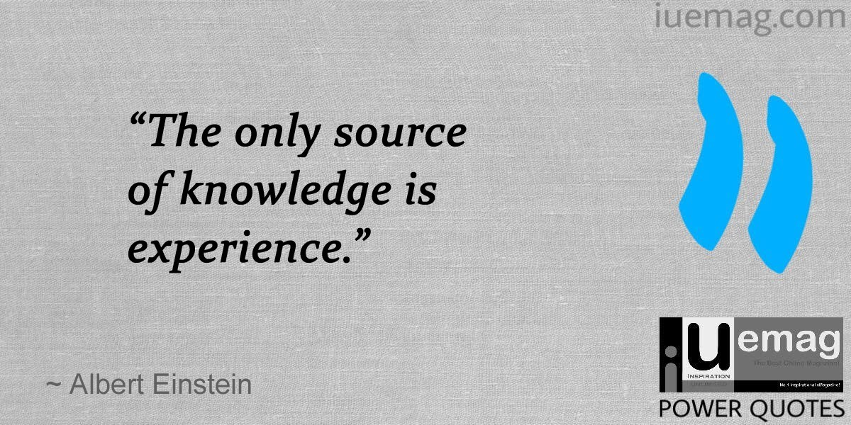 power quotes that makes you realize the value of experience