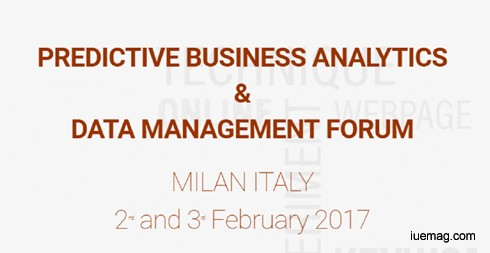 Global Predictive Analytics and Data Management Forum