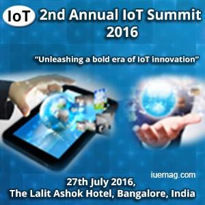 2nd Annual IoT Summit 2016 Bangalore
