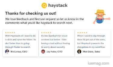 haystack file search
