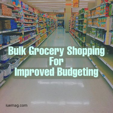 Bulk Grocery Shopping for Improved Budgeting