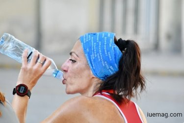 Drinking water after exercise
