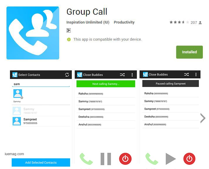 Group Call App - For Calling A List Of People