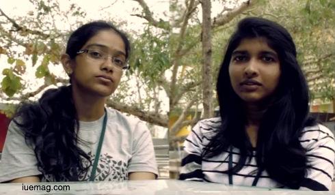 Divya & Shravanya. RVCE